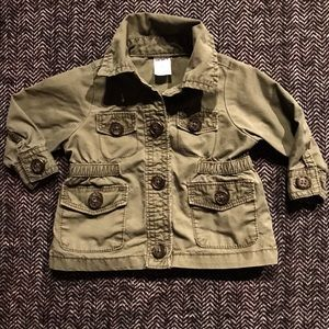 Carters light olive utility jacket size